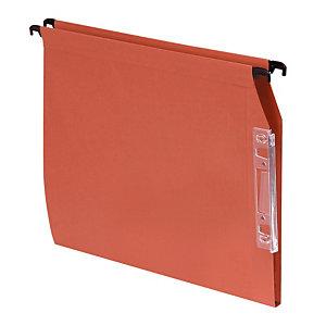 100 dossiers Kraft 220g 1er prix  fond 15 mm pour armoires coloris orange