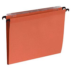 100 dossiers Kraft 220g 1er prix  fond 15 mm pour tiroirs coloris orange