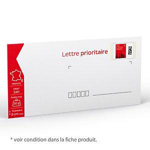 100 enveloppes prêt à poster 20 g Lettre prioritaire  format 110 X 220 mm