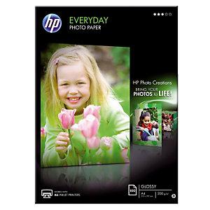 100 feuilles papiers photo  A4 jet d'encre HP Everyday Q2510A, la pochette