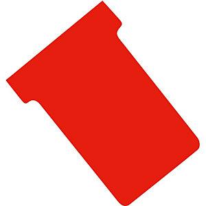 100 fiches T indice 2 coloris rouge