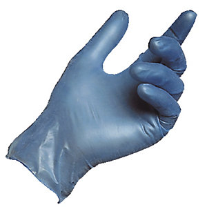 100 gants alimentaires usage court Solo nitrile 997 Mapa bleu taille 7