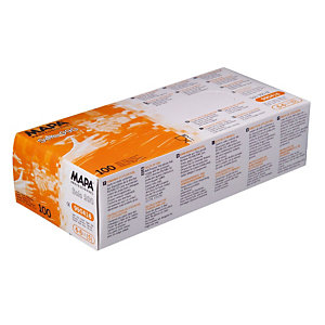 100 gants à usage court Vinyle Solo 990 Mapa taille 8