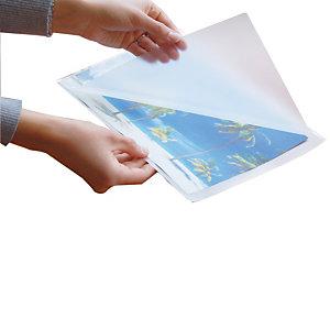100 hoesjes voor warm plastificeren 2 x 175 micron formaat A4, per zakje