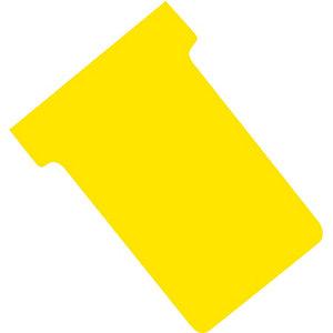 100 T-kaarten index 2 kleur geel
