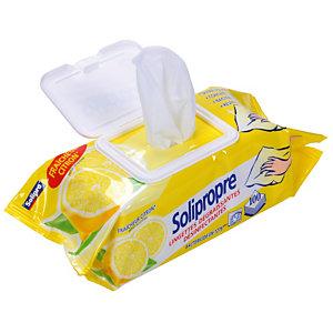 100 lingettes nettoyantes désinfectantes surfaces Solipropre Solipro