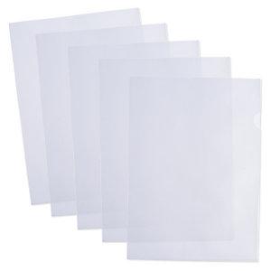 100 pochettes coin en polypropylène grainé 9/100e incolore