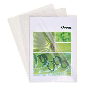 100 pochettes coin transparentes PVC 13/100e incolores