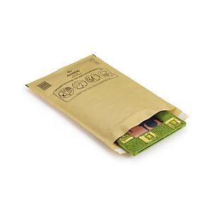 100 pochettes matelassées bulles Mail Lite  22 x 33 cm Kraft brun, le lot
