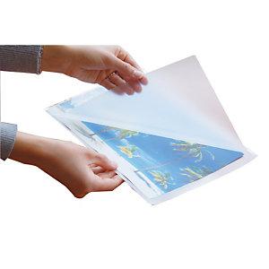 100 pochettes de plastification à chaud 2 x 125 microns format A4, le sachet