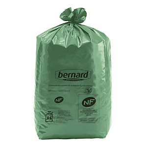 100 sacs Bernard Green® NF Environnement 110 L coloris vert