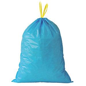 100 sacs poubelle à poignées coulissantes Tradition 100 L coloris bleu
