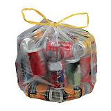 100 sacs poubelle à poignées coulissantes 30 L transparents