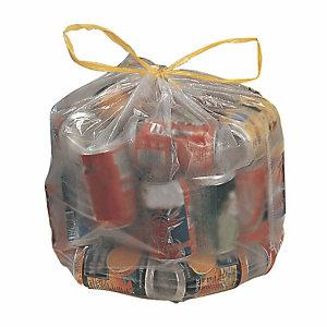 100 sacs poubelle à poignées coulissantes 50 L transparents
