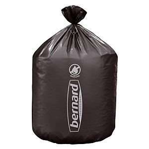 100 sacs poubelle en supertène Bernard 150 L coloris gris