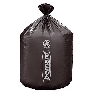 100 sacs poubelle en supertène Bernard 50 L coloris gris