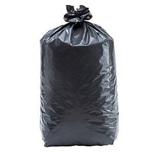 100 sacs poubelle Tradition 130 L qualité super épaisse coloris gris