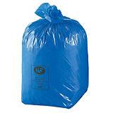 100 sacs poubelles NF 30L coloris bleus