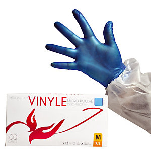 100 voordelige vinyl handschoenen voor kortstondig gebruik maat 8