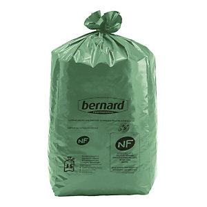100 zakken Bernard Green® NF Environnement 130 L kleur groen