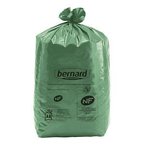 100 zakken Bernard Green® NF Environnement 30 L kleur groen