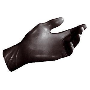 100 zwarte niet-gepoederde handschoenen in nitril, maat 6/7