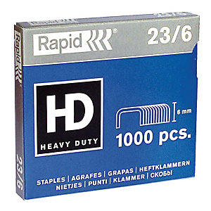 1000 agrafes normalisées standard n° 23/6 Rapid
