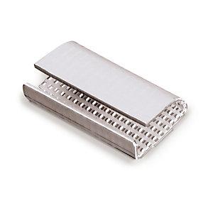 1000 chapes KO métal semi-ouvertes à picots 13 mm