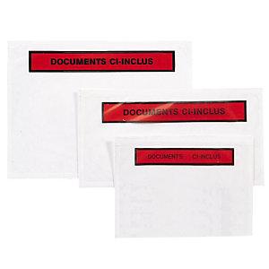 """1000 enveloppes auto-adhésives """"Documents ci-inclus"""", 16 x 12 cm C6"""