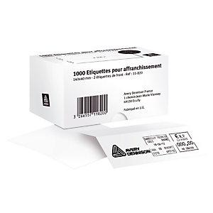 1000 étiquettes d'affranchissement autocollantes