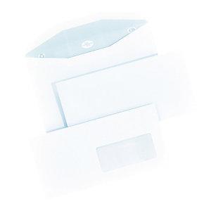 1000 extra witte enveloppen C5/6 La Couronne voor automatische vulling 114 x 229 mm met venster 45 x 100 mm velijn 80 g