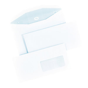1000 extra witte enveloppen C5 La Couronne voor automatische vulling 162 x 229 mm met venster 45 x 100 mm velijn 80 g