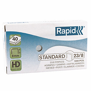 1000 genormaliseerde standaard nietjes n° 23/8 Rapid