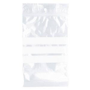 1000 sachets à fermeture zip avec bande d'écriture, épaisseur 50 microns, 10 x 15 cm