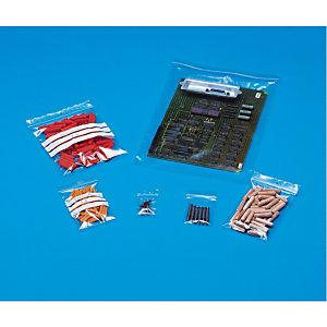 1000 sachets à fermeture zip épaisseur 50 microns, 8 X 12 cm