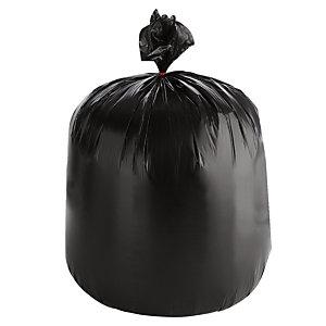1000 voordelige zakken 30 L, zwarte kleur