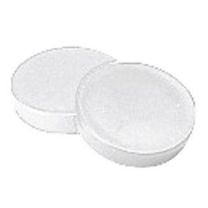 12 aimants ronds Ø 20 mm blanc