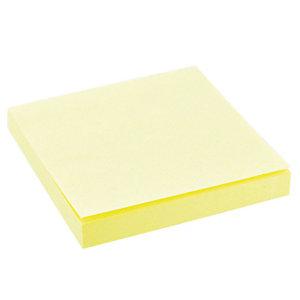 12 blocs notes repositionnables 76 x 76 mm coloris jaune