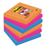 12 blocs notes repositionnables Post-it® Super Sticky Bangkok 76 x 76 mm