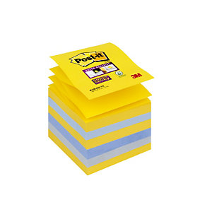 12 blocs Z-notes Super Sticky Post-it® 76 x 76 mm collection New-York, le lot