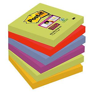 12 blokken herplaatsbare memo's Post-it® Super Sticky Marrakech 76 x 76 mm