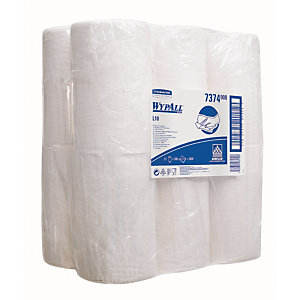 12 bobines d'essuyage à dévidage central Wypall L10 blanches, 200 formats