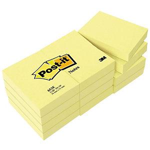 12 klassieke blokken Post-it® 38 x 51 mm kleur geel, per set