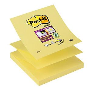 12 navulblokken herplaatsbare gele  Z- memo's Super Sticky Post-it® 76 x 76 mm