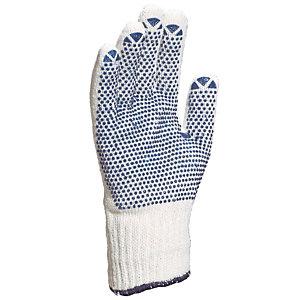 12 paar gebreide handschoenen in katoen polyester noppen in PVC M. 7