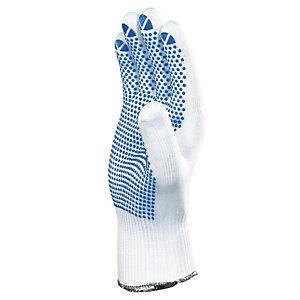12 paar gebreide handschoenen in polyamide noppen in PVC M. 9