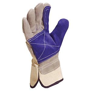 12 paar handschoenen in leder type dokwerker DS202 Delta Plus, één maat