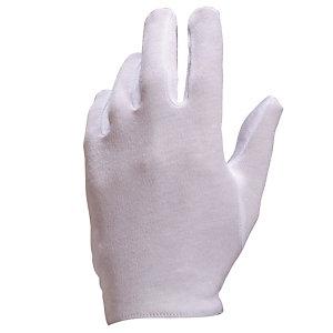 12 paires de gants de manipulation 100% coton blanchi COB40 Delta Plus, taille 9