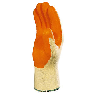 12 paires de gants de manutention avec enduction latex VE7300R Delta Plus, taille 10