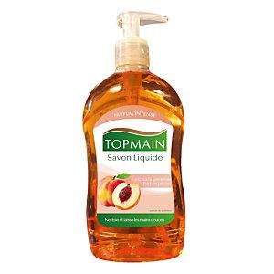 12 savons liquides Topmain parfum pêche, flacon de 500 ml
